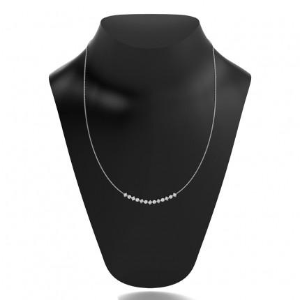 4 Prong Setting Round Diamond Necklace