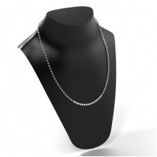 Platin Tennis Anhänger Halsketten