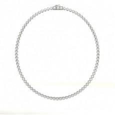 Round Tennis Necklaces Pendants