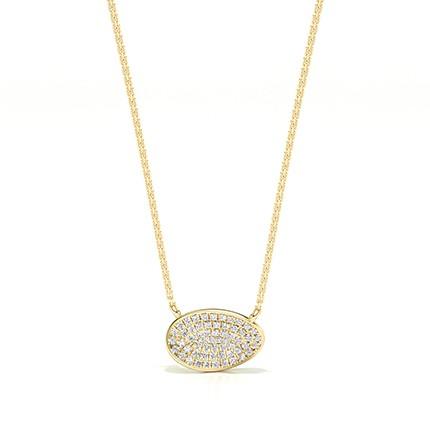 Diamant-Cluster-Halskette mit Mikropflastereinstellung