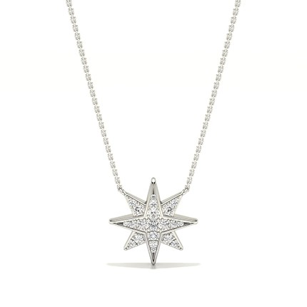 Micro Prong Setting Diamond Delicate Necklace