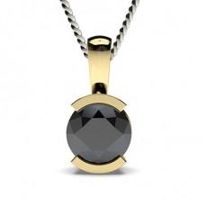 Yellow Gold Black Diamond Pendants
