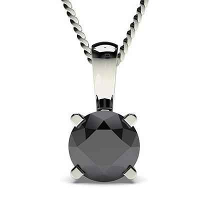 Schwarze Diamant Anhänger in einer Krappenfassung