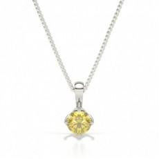 Gelber Diamant Solitär Anhänger