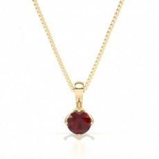 Yellow Gold Ruby Pendants