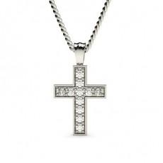 Weißgold Kreuze Anhänger Halsketten