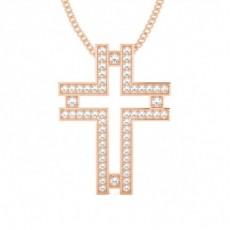 Rose Gold Cross Pendants