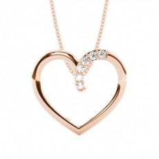 Rotgold Herzen Anhänger Halsketten