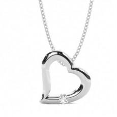 Platin Herzen Anhänger Halsketten