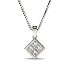 Prinzessin Schliff Diamant Anhänger & Halskette