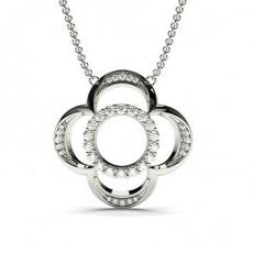 Pave Setting Designer Diamond Pendant
