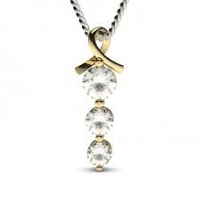 Yellow Gold Journey Pendants Necklaces