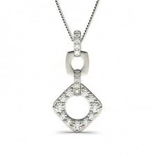Round Drop Pendants Necklaces