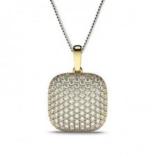 Gelbgold Designer Anhänger Halsketten
