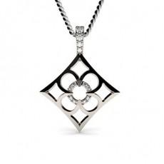 White Gold Delicate Diamond Pendants