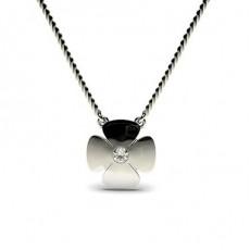 Round Delicate Diamond Pendants Necklaces