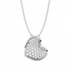 Brilliant Herzen Anhänger Halsketten