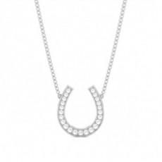 Brilliant Zierliche Anhänger Halsketten