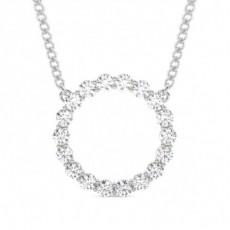 Brilliant Runde Anhänger Halsketten