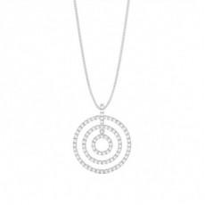 Prong Setting Round Diamond Circle Pendant