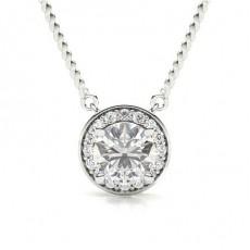 Platine Pendentif Diamant