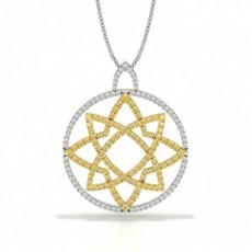 Gelber Diamant Designer Anhänger