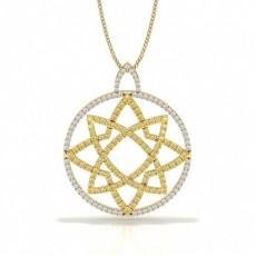 Yellow Gold Yellow Diamond Pendants