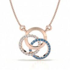 Rose Gold Circle Pendants Necklaces