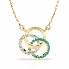 Yellow Gold Circle Pendants Necklaces