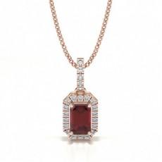 Rose Gold Gemstone Pendants Necklaces