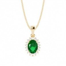Oval Emerald Pendants