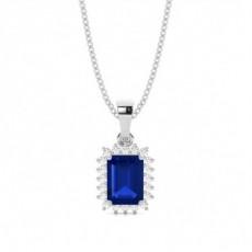 Platinum Sapphire Pendants
