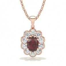 Rose Gold Ruby Pendants