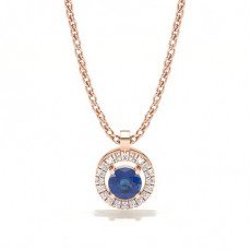 Rose Gold Sapphire Pendants