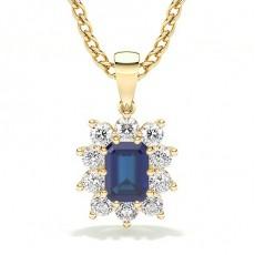 Yellow Gold Sapphire Pendants