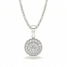 White Gold Diamond Pendants & Necklaces