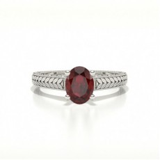 Oval Ruby Engagement Rings