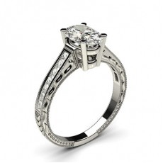 Oval Vintage Engagement Rings