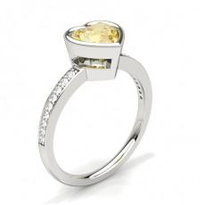Herz Gelber Diamant Verlobungsringe