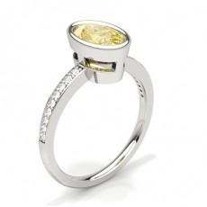 Oval Yellow Diamond Engagement Rings