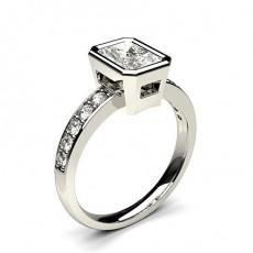 Radiant Side Stone Engagement Rings