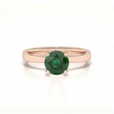 Rose Gold Emerald Rings