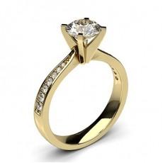Diamantringe Gelbgold