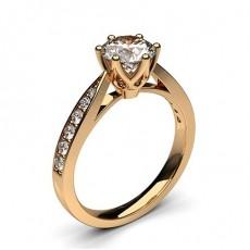 6 Prong Setting Medium Side Stone Engagement Ring