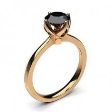 Rose Gold Black Diamond Rings