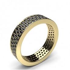 Yellow Gold Black Diamond Rings