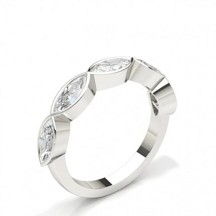 Full Bezel Setting Half Eternity Diamond Ring
