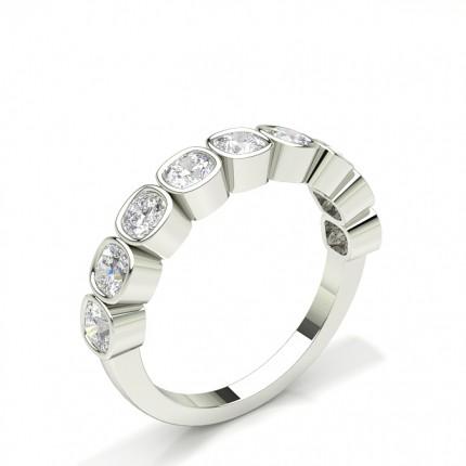 Halb Eternity Diamant Ring in einer Zargenfassung