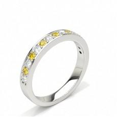 Gelber Diamant Halbmemoire Ring