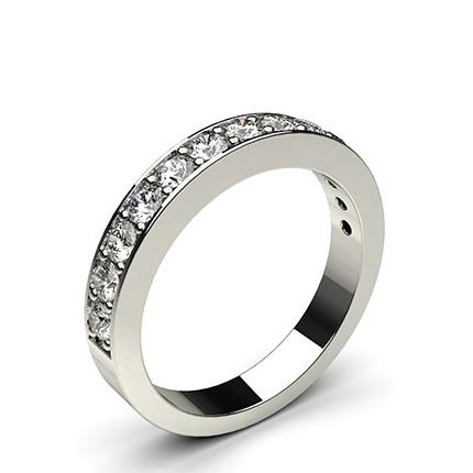 Pave Setting Half Eternity Diamond Ring